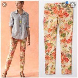 Anthropologie Cartonnier Floral Pants